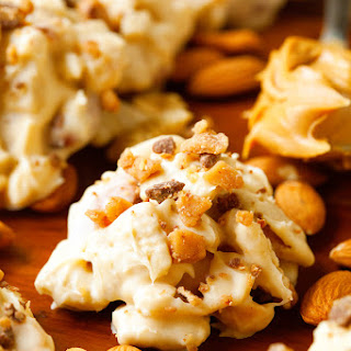 Crunchy White Chocolate and Toffee Clusters