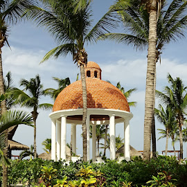 Beach gazebo by Joyce Thomas - Buildings & Architecture Other Exteriors ( beach gazebo, cancun gazebo, gazebo )