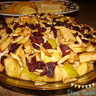 Apple Crisp Baked Brie