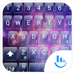Keyboard Theme Glass Galaxy 16.0 Apk
