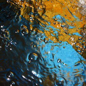 water painting! by Afzal Khan - Abstract Water Drops & Splashes ( detail, colorful, sparkle, blur, yellow, highlights., bokeh, character, circles, mineral, shadow, composition, dark, rain, move, abstract, water, orange, close up, moments, pattern, blue, freeze, artistic, drops, aqua, small, design )