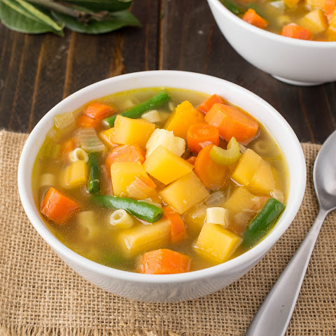 30 minute Winter vegetable soup