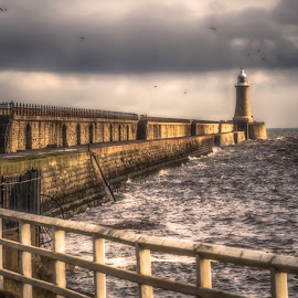 Tynemouth by Adam Lang - Buildings & Architecture Architectural Detail ( sky, lighthouse, tynemouth, sea, coast )