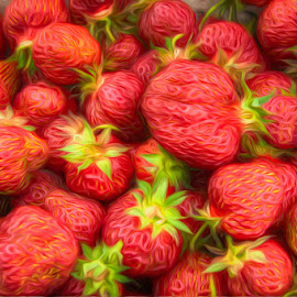 Strawberry Swirl by Chris Cavallo - Digital Art Things ( red, food, strawberries, digital manipulation, digital art, digital painting,  )