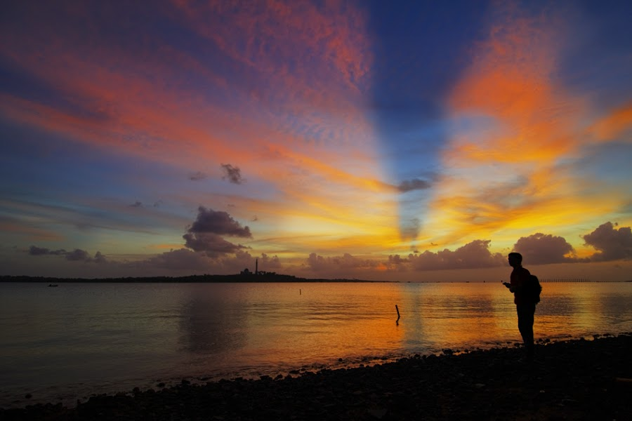 The Sunset Traveler by M Yani Sidi T - Landscapes Travel ( sunset, beach, landscape )