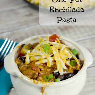 One Pot Enchilada Pasta Dinner of Awesomeness