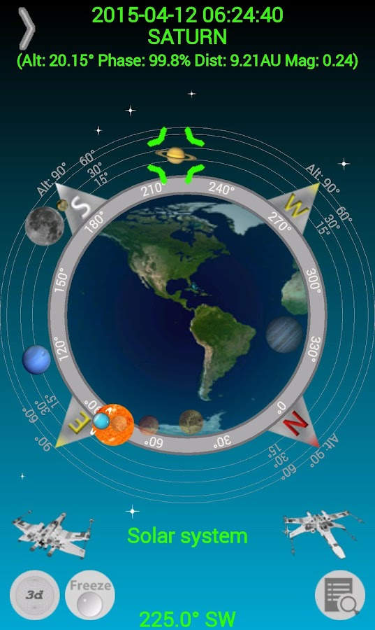 Planet Finder + Screenshot
