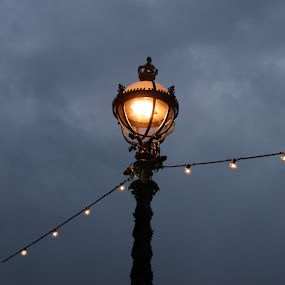 by Maya Farebrother - Artistic Objects Other Objects ( clouds, lantern, lamp, grey, light )