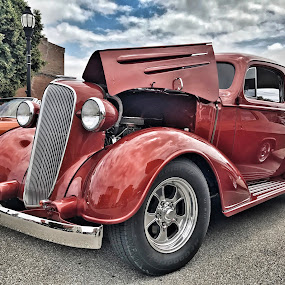 Hot Rod Racer by Lorna Littrell - Transportation Automobiles ( cars, transportation, hot rod, antique, red cars,  )