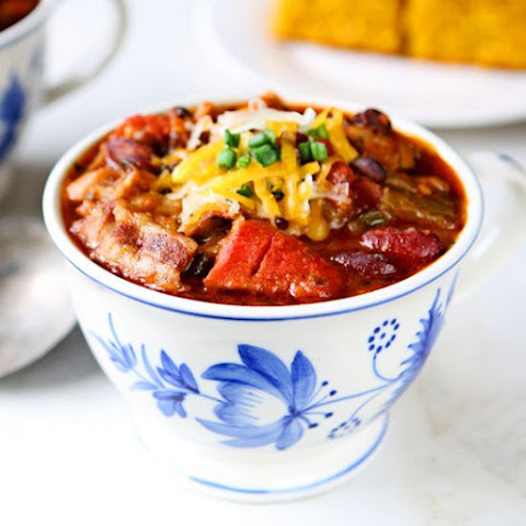 Three-Bean Chili with Bacon