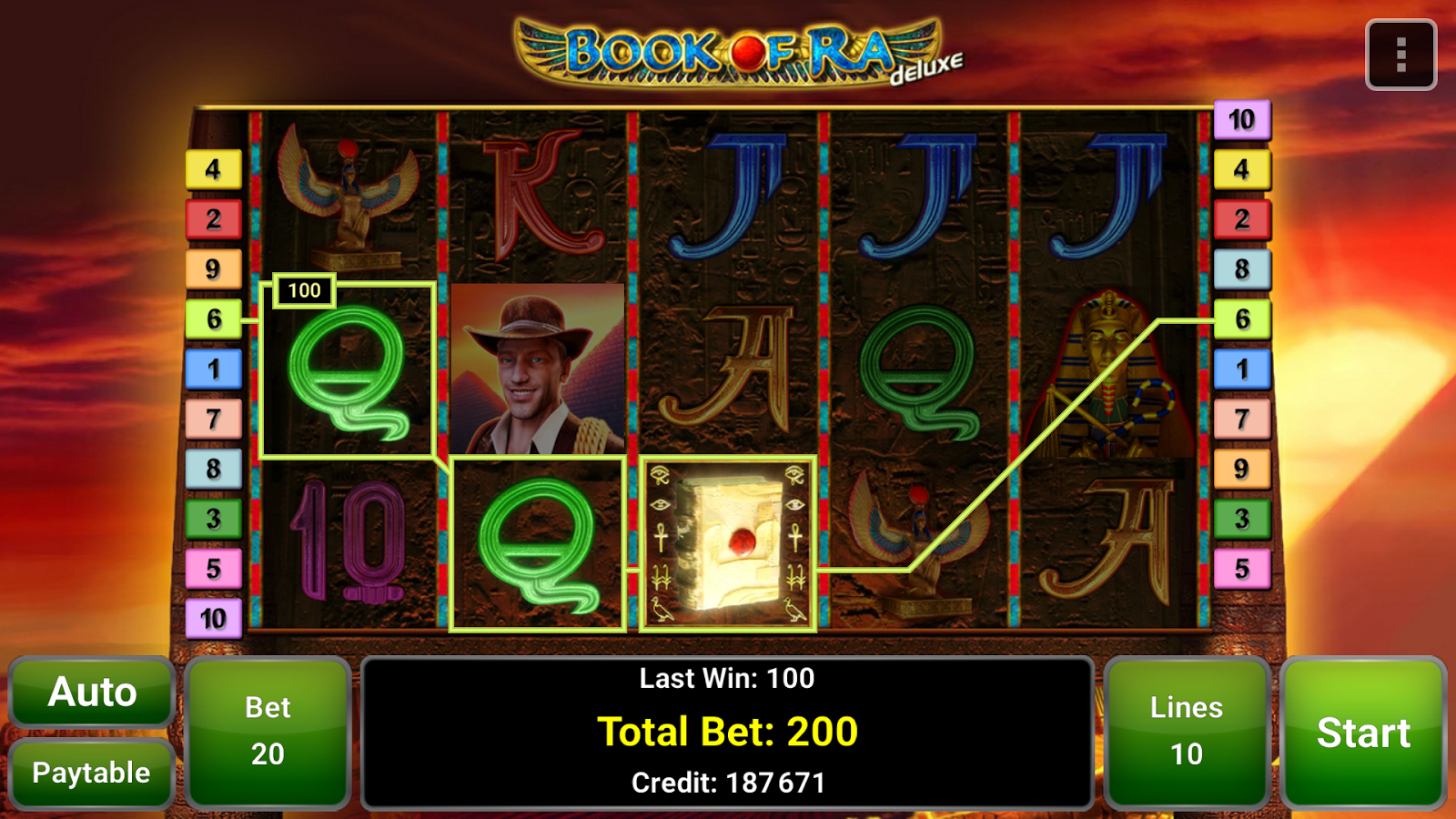 book of ra online bet 900