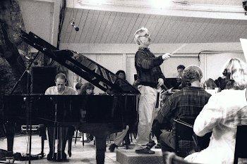 Rehearsing Ravel G Major Piano Concerto with John Adams, Ojai, 1993 (1)