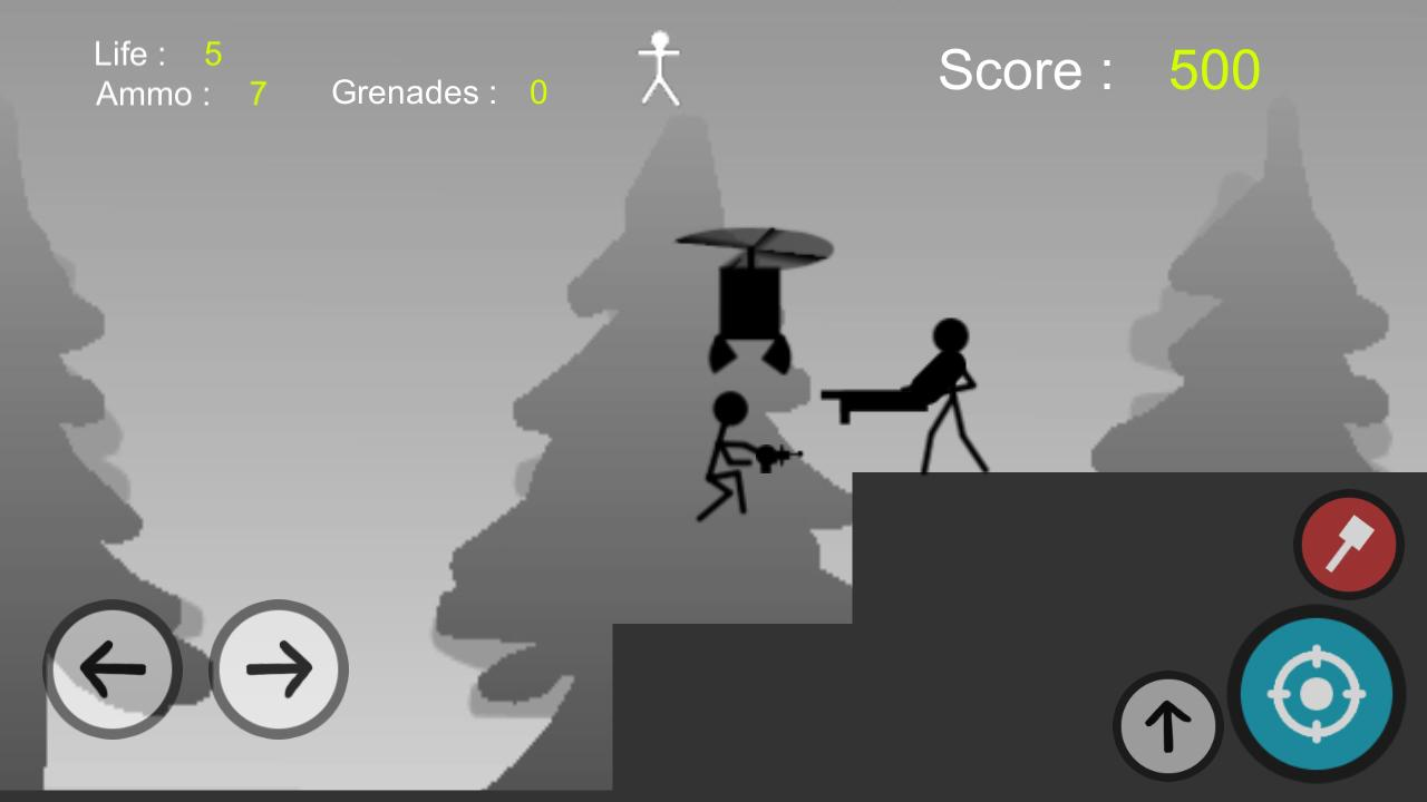 Stickman Gun - Metal Solider Slug Screenshot 4