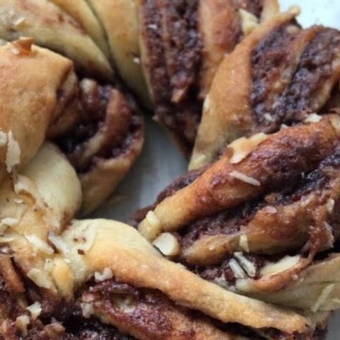 Braided Nutella Bread in 50 Minutes