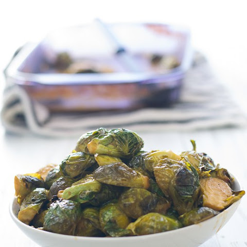 Roasted Brussel Sprouts in a Maple Miso Glaze