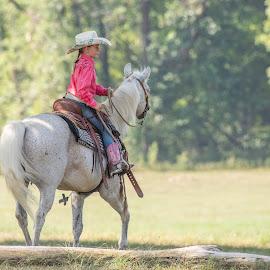 by Kevin Esterline - Babies & Children Children Candids ( horse, western, female, rider, child )