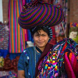 Isabella at the Market by Karina Irene - People Portraits of Women ( market, guatemala, travel, mayan )