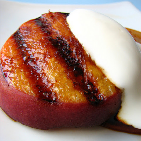 Chipotle-Coriander Grilled Peaches