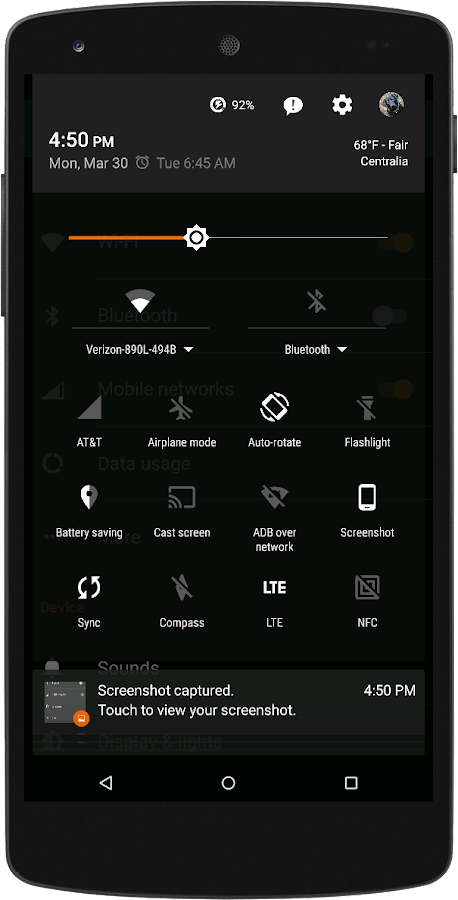 Black MTRL - Dark Orange CM13 Screenshot 2