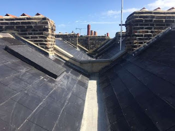 top view of a roof being repaired in margate