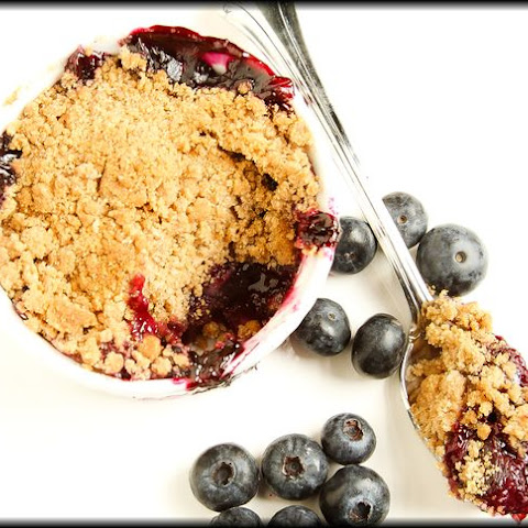 Individual Blueberry Cobblers