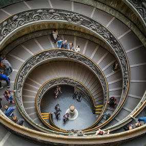 Stairs in Vatican museum by Krasimir Lazarov - Buildings & Architecture Public & Historical ( building, stairs, rome, tourism, vatican, museum, architecture, historical, travel locations )