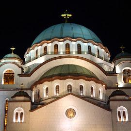 St. Sava Church, Belgrade by Zoran Dasic - City,  Street & Park  Historic Districts ( hram svetog save, beograd hram svetog save )