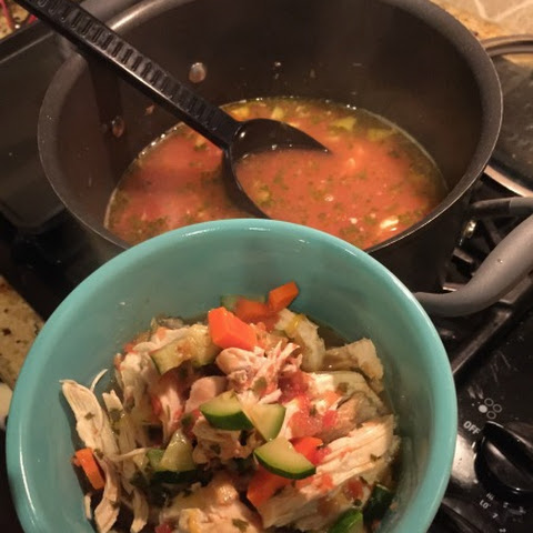 Homemade Rotisserie Chicken Soup with Salsa