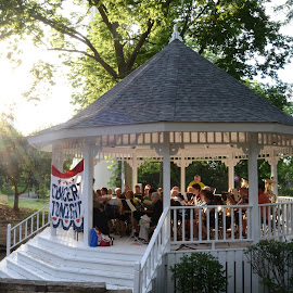 Americana  by Kristin Cosgrove - Novices Only Street & Candid ( concert, americana, small town, iowa, gazebo )
