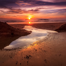 Embrace by Gerard Macorvick - Landscapes Sunsets & Sunrises