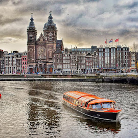 Amsterdam Morning  by Danny Hoang - City,  Street & Park  Skylines