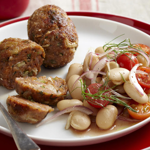 Fennel Sausages with Butter Bean Salad