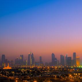 Dubai skyline by Mohammed Hashmi - City,  Street & Park  Skylines ( dubai  skyline )