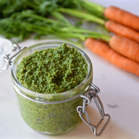 Carrot Top Mint Pesto