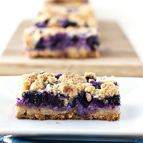 Creamy Blueberry Crumb Bars