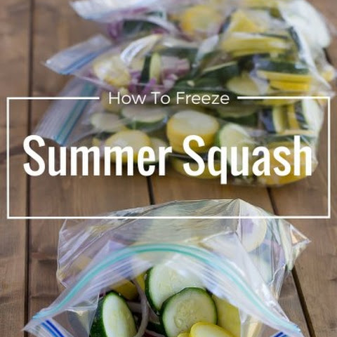 How to Freeze Squash