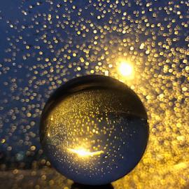 Glitter by Melissa Poling - Artistic Objects Glass ( abstract, lensball, creatve, street lamp, glitter,  )