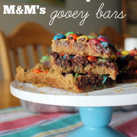 Chocolate Chip M&M's Gooey Bars