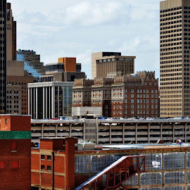 Citycape2 by Clarence Hagler - City,  Street & Park  Skylines ( daytime, oklahoma city, oklahoma, buildings, downtown,  )