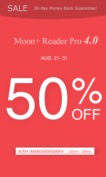 Moon+ Reader Pro (50% OFF) 4.0