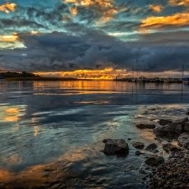 by Bojan Bilas - Landscapes Sunsets & Sunrises ( nature, color, waterscape, sunset, beautiful, laituritie, suomi, finland, seascape, landscape, rauma )
