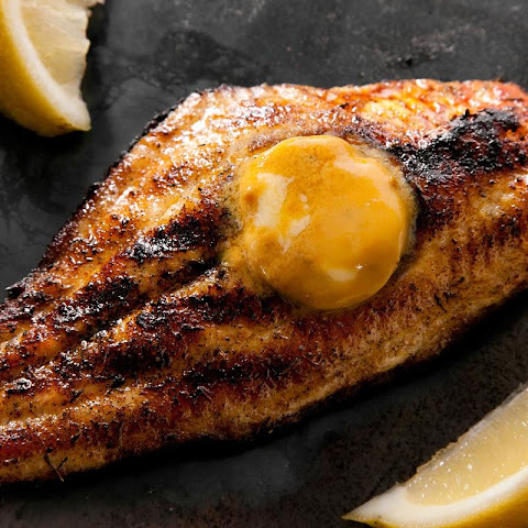 Grilled Blackened Catfish with Creole Mustard Butter