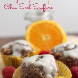 Raspberry-Orange Chia Seed Scuffins