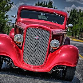 Red Rod by Ray Ebersole - Transportation Automobiles
