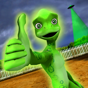 Scary Green Grandpa Alien For PC (Windows & MAC)