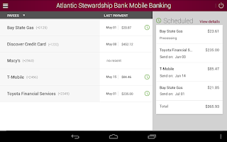 Screenshot of ASB Mobile Banking