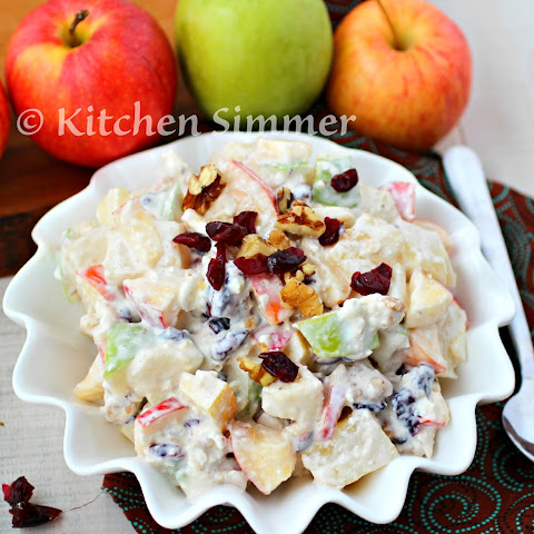 Apple Salad with Walnuts and Cranberries