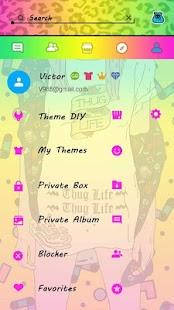 (FREE) GO SMS THUG GIRL THEME APK for Bluestacks