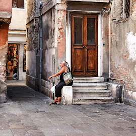 In Venice by Russ Quinlan - People Portraits of Women ( venice, woman, street, travel, portrait, italy )
