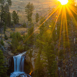 Undine Sunrise by Thomas Jones - Landscapes Waterscapes ( waterfalls, sunrises, undine falls, wyoming, yellowstone national park, waterfall, sunrise, infinity prime photography )